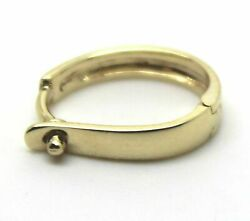 Kaedesigns New 18ct 750 Yellow Gold Plain 13mm Large Size Enhancer Bail Clasp