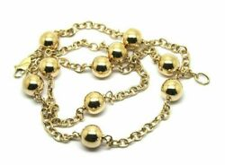 9ct 375 Solid Yellow Gold Ball Chain 55cm Kerb Curb Link Necklace-free Express