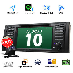 2021 1din 7 Android 10 4-core Car Stereo Gps Radio Dvd Dab+ Wifi For Bmw E39 M5