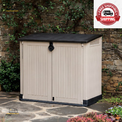 Store-it-out Midi 30-cu Ft Resin Shed, All-weather Plastic Outdoor Storage,beige