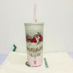 Starbucks Stainless Tumbler Cold Cup 12 Oz.farm To Coffee Story Beans