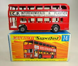 Matchbox Superfast No. 74a Daimler Bus Red Body Rare Icp Promotional Issue