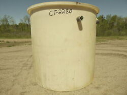 Used Cylindrical Tank - 2000 Gallon Poly Round Tank Ct2280-tanks-cylindrical
