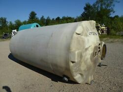 Used Cylindrical Tank - 1,800 Gallon Poly Round Tank-tanks-cylindrical