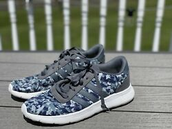 Adidas Womens Sneakers Size 6 Athletic Running Lightweight Blue Camo