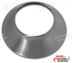 66 Corvette Knock Off Cone New Brushed Stainless Steel X1689