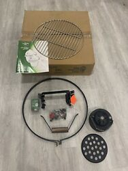 Big Green Egg Medium Band Assembly Kit With Grate, Thermometer And More.