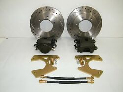 C10 6 Lug Rear Disc Brake Conversion Kit Drilled And Slotted Rotors 1963-1970