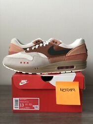 New Ds Nike Air Max 1 Amsterdam Menand039s Us Size 13 Cv1638-200 100 Authentic