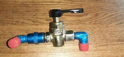Cessna 150 Fuel Shut Off Valve Assembly Pn 0411803-5 And Weu -6 With Handle