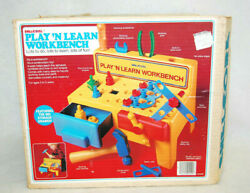 Shelcore Playand039n Learn Kidand039s Workbench W/all Parts 04400 Vintage 1980and039s New M4831