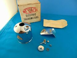 Nos Westach Electric Tachometer Housing Mount 60and039s 70and039s Race Gasser Hot Rod