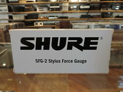 Shure Sfg-2 Turntable Stylus Force Gauge Scale Audiophile Accessory Tool In Box