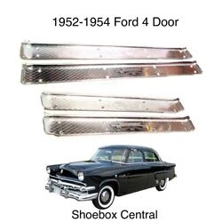 1952 1953 1954 Ford 4 Door Scuff Sill Plates Set Of Four