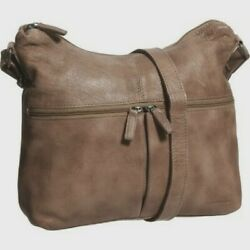 Jack Georges Buffed Calf Collection Uptown Hobo Honey Leather NWT MSRP $222 $99.99