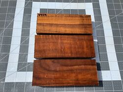 Hawaiian Curly Koa Knife Scale Blanks Strong Curl And Beautiful Color 8954