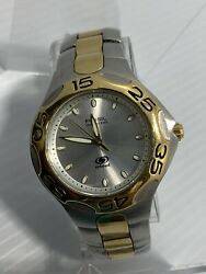 Fossil Blue Series Solid Stainless Steel Satin Silver Dial Fs-5011 100m New Batt