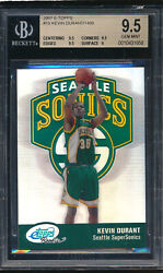 2007 E-topps 19 Kevin Durant 540/1499 Rc Bgs 9.5