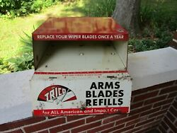 Vintage Trico Wiper Blade Display Cabinet Gas Service Station Advertising Sign