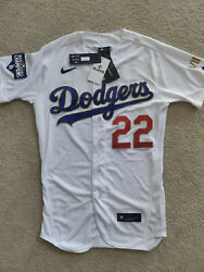 Clayton Kershaw Authentic Dodgers Gold Championship Jersey - Size 40