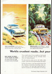 1957 World Wide Ford Cars V8 Customline Anglia Aussie Repro Ad Art Print Poster