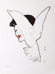 Gruau Dior The Kiss Of Dove Lithographie Original Lithograph 1960 Old Poster