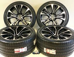 20 Black And Machined Wheels Fits Bmw X5 X6 X6m 5x120 Staggered Rims Tires Pkg