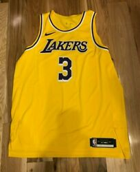 Nike Anthony Davis Los Angeles Lakers Icon Edition Authentic Jersey Size 52