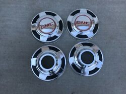 """Vintage Gmc 4x4 Truck Dog Dish Hubcaps Wheel Covers, 10 1/2"""""""