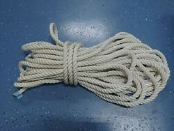 New England Rope Boat Anchor Dock Line 3/4 X 97' Twisted 3 Strand Nylon White
