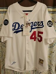 Mitchell And Ness 1993 Los Angeles Dodgers Pedro Martinez Jersey 52 Xxl 2 Patches