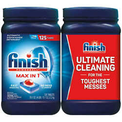 Finish Powerball Max In One Dishwasher Detergent Tablets, 125-count - Free Ship