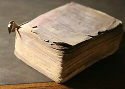 Antique Old Deutsch Russian Vocabulary Dictionary Pocket Book German Gothic Text