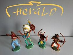 Indians Wildwest By Herald Britains Swoppets Toy Soldiers 1960s Uk Made