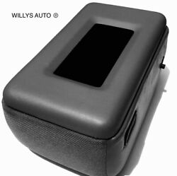 Ford Ranger Center Console Lid Armrest New Padded Dark Graywith Phone Tray