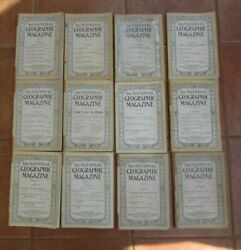 Lot Of 12 Antique Vintage National Geographic Magazines 1916-1924