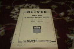 Oliver 66 And Super 66 Tractor Parts Book Gvoh