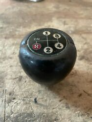 1970and039s Vintage Leather Shift Knob Vw Beetle Bug Special Edition Dealer Accessory