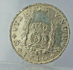 Real Pirate Treasure Silver 8 Reales 1740 Large Silver Coin Phillip V Of Spain