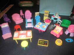 Fisher Price, Little Tikes, And Other Various Doll House Furniture Pieces..8.99