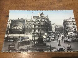 Piccadilly Advertising Guinness Coca Cola London Real Photo Postcard