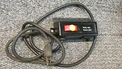 Rail Mount Sears Craftsman 10 Table Saw On/off Switch Key Wire 113 Series 20a