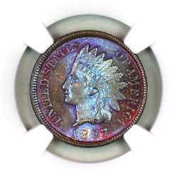 1897 Ms65 Bn Ngc Indian Head Penny Premium Quality Monster Toning