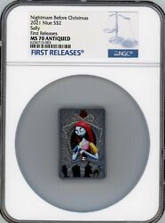 Sally Nightmare Before Christmas 2021 Niue 2 Silver Coin Ngc Ms 70 Fr
