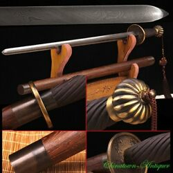 Solid Martial Arts Killer Mace Traditional Rotary Forging Pattern Steel 3408