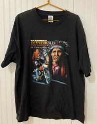 Vintage 90s Brothers In The Wind Motorcycle Indian Tee T Shirt Sz Xl Native