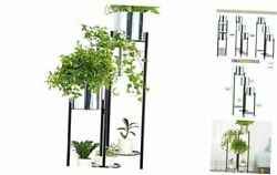 Indoor Outdoor Plant Stand Foldable Standing 6 Tier 6 Potted Metal Plant Stand