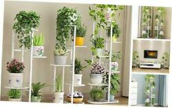 42 Inches Metal Plant Stand Multiple Flower Pot Holder Shelves 6 Tier 7 Potted