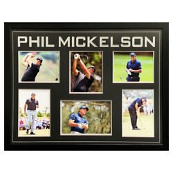 Signed Phil Mickelson Photo Display Framed - Golf Icon Autograph +coa