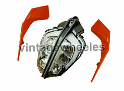 Headlight With Side Mask Lh And Rh Orange Fit For Ktm Duke 125 Motorbikes